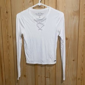Hollister cropped long sleeve